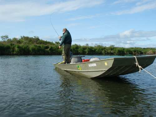 18' flat bottom jon boats perfect for fly casting