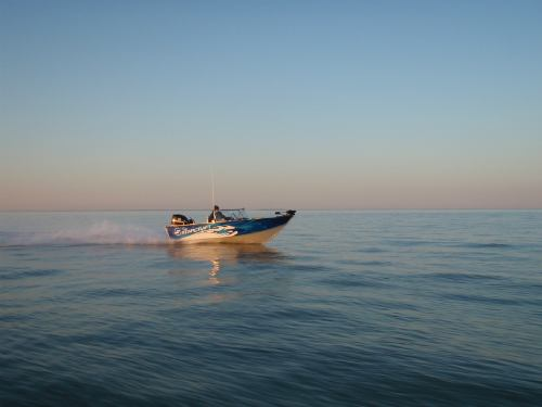 With a top speed of 55 mph, we can get to the fish in a hurry!
