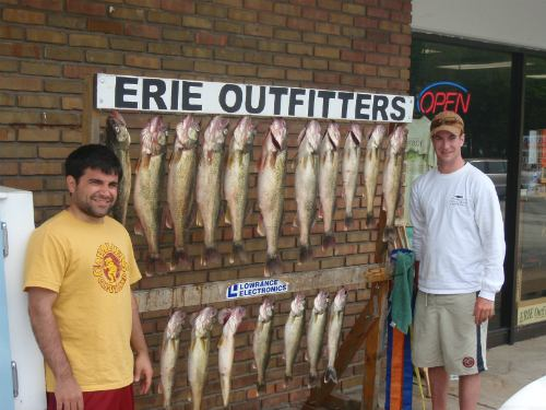 Erie Outfitters is a great place for fishing cleaning and pictures!